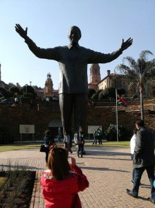 Statue of Nelson Mandela in front of the Union Buildings in Pretoria, South Africa. Photo by Barbara Borst