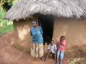 A family that was forced to flee central Kenya during political violence. Photo by Barbara Borst (2008)