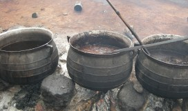 Shea nuts must be boiled as part of the process of extracting shea butter, which sells on the international market as well as the local market.