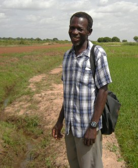 Yakubu Saaka Daniel, vice chair of one of 10 farmers' organizations that work with Bontanga Irrigation Project to produce rice in the arid north by tapping the waters of the Volta River system.