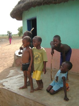 Children play in the village of Dalun, outside Tamale, which is the main city in Ghana's Northern Region.