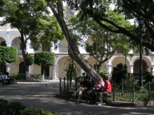 Antigua's Parque Central is the centerpiece of the old colonial city. Photos by Barbara Borst