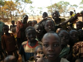 With schools closed in Nyarugusu refugee camp, Tanzania, children find ways to amuse themselves. Photo by Barbara Borst