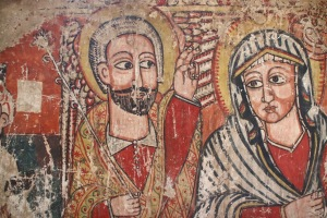 A centuries-old icon painting from a church in Bahir Dar, Ethiopia. Photo by Ayenat Mersie