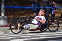 Dick Traum, founder of Achilles International, at the New York City Marathon on Nov. 6. Photo by Lucía Seda